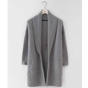Boden Shawl Collar Grey Knitted Cardigan WU070